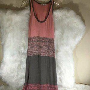 Trina Turk Salmon Pink Maxi Dress Sz Small Grey St